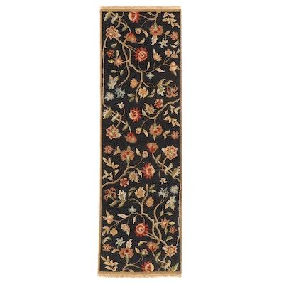 2'5 x 8'3 Handwoven Indian Soumak Carpet Runner