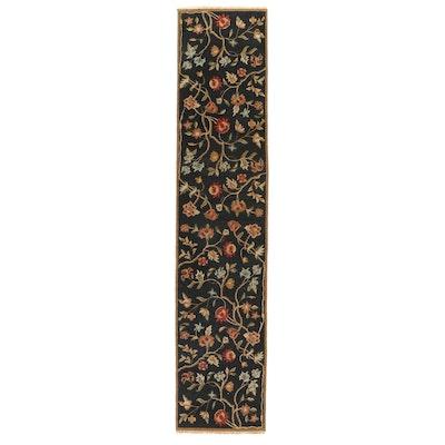 2'6 x 11'9 Handwoven Indian Soumak Carpet Runner