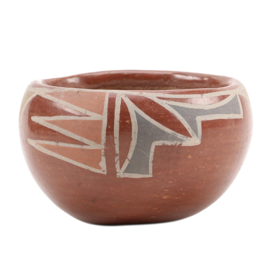 Santa Clara Pueblo Polychrome Earthenware Bowl