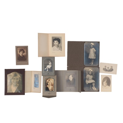 Silver Gelatin and Matte Collodion Portraits of Women, Early 20th Century