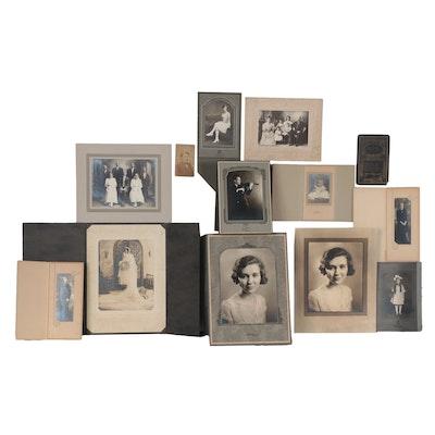 Silver Gelatin and Albumen Portrait Photographs, circa 1900
