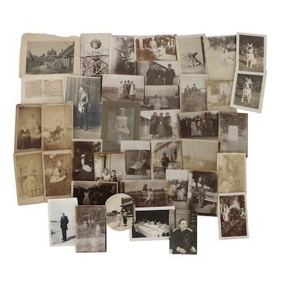 Silver Gelatin and Carte de Visite Family Photographs, circa 1900