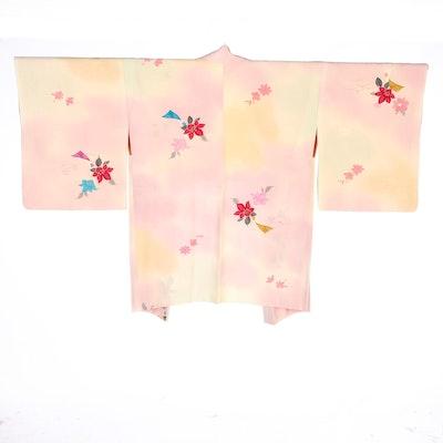 Ombré Floral Yuzen Dyed Haori, Shōwa Period