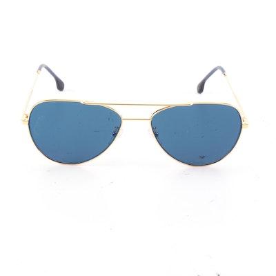 Paul Smith Tinted Blue Angus Aviator Sunglasses