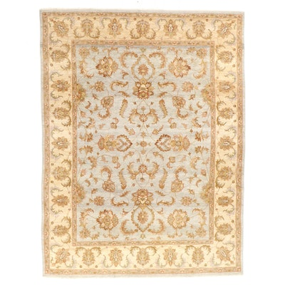 9'2 x 12'2 Hand-Knotted Indian Agra Room Sized Rug
