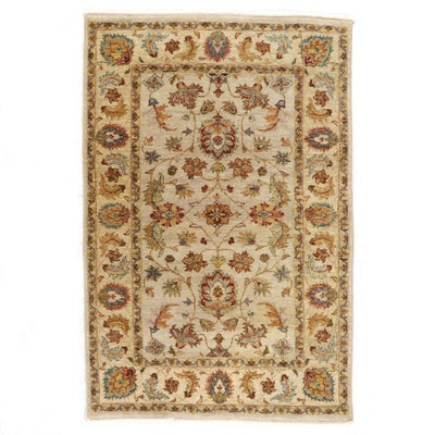 4' x 6'1 Hand-Knotted Indian Peshawar Area Rug