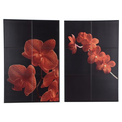 Giclée Tile Mosaics of Floral Compositions, Late 20th to 21st Century