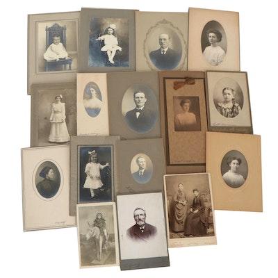 Carbon, Platinum and Silver Gelatin Portraits, circa 1900