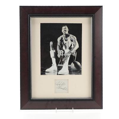 Wilt Chamberlain Signature Cut and Kansas Photo Print, PSA/DNA Full Letter