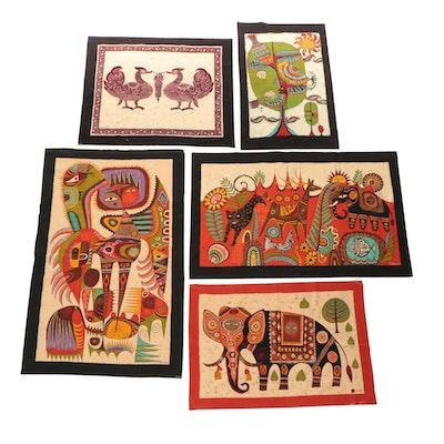 Vipula Dharmawardena Batik Panels, circa 1970