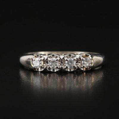 14K Diamond Four Stone Band