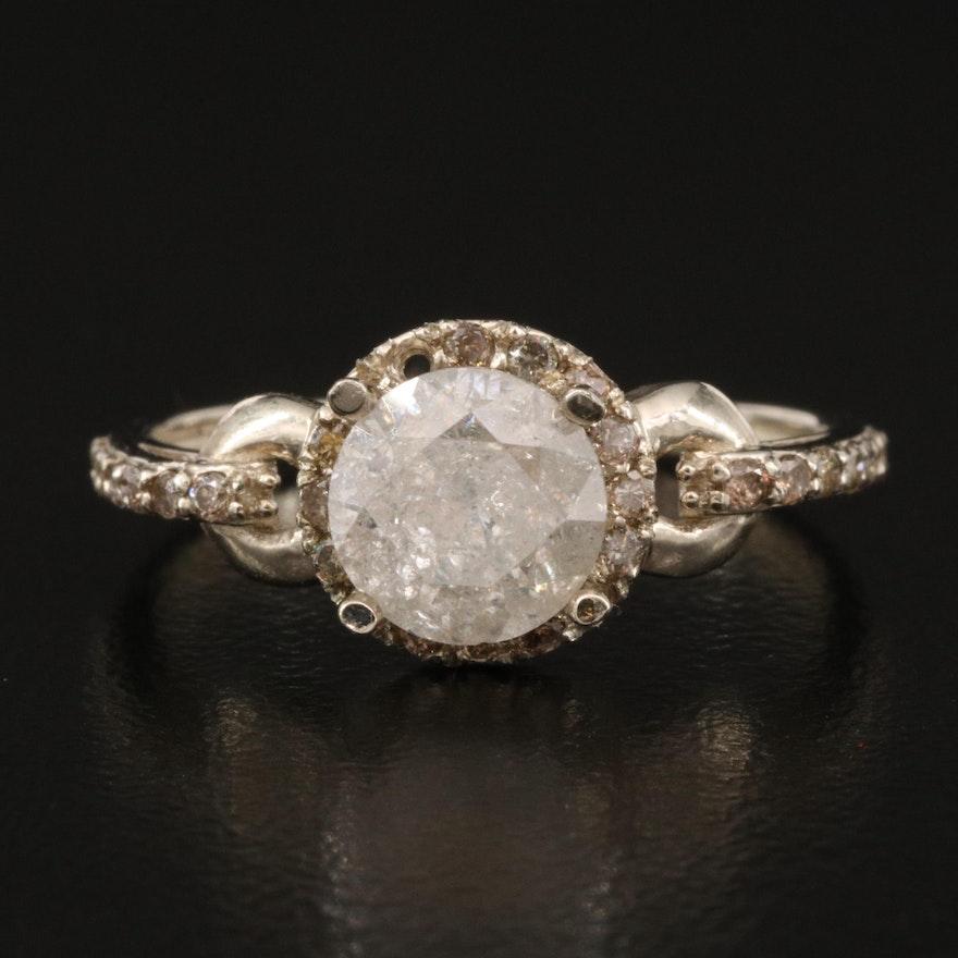 14K Gold 1.58 CTW Diamond Ring