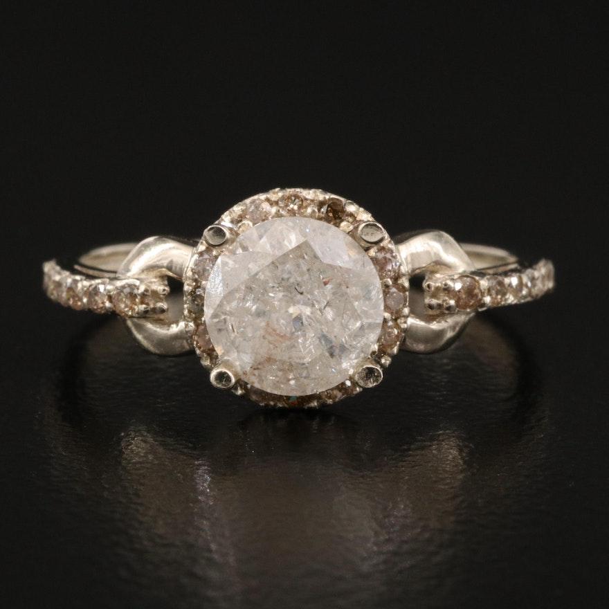14K Gold 1.48 CTW Diamond Ring