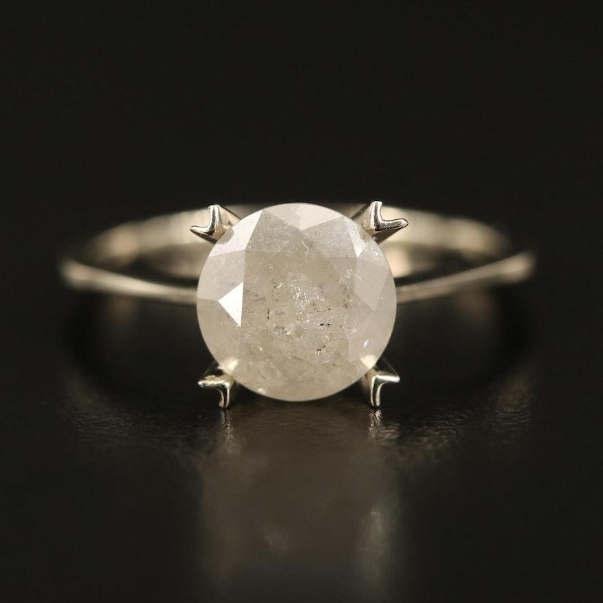 14K 2.20 CT Diamond Solitaire Ring