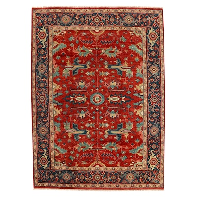 8'9 x 12'4 Hand-Knotted Indian Mahal Room Sized Rug