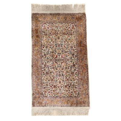 2'6 x 5'10 Hand-Knotted Sino-Persian Qom Silk Area Rug