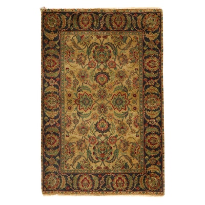 4' x 6'2 Hand-Knotted Indian Agra Area Rug