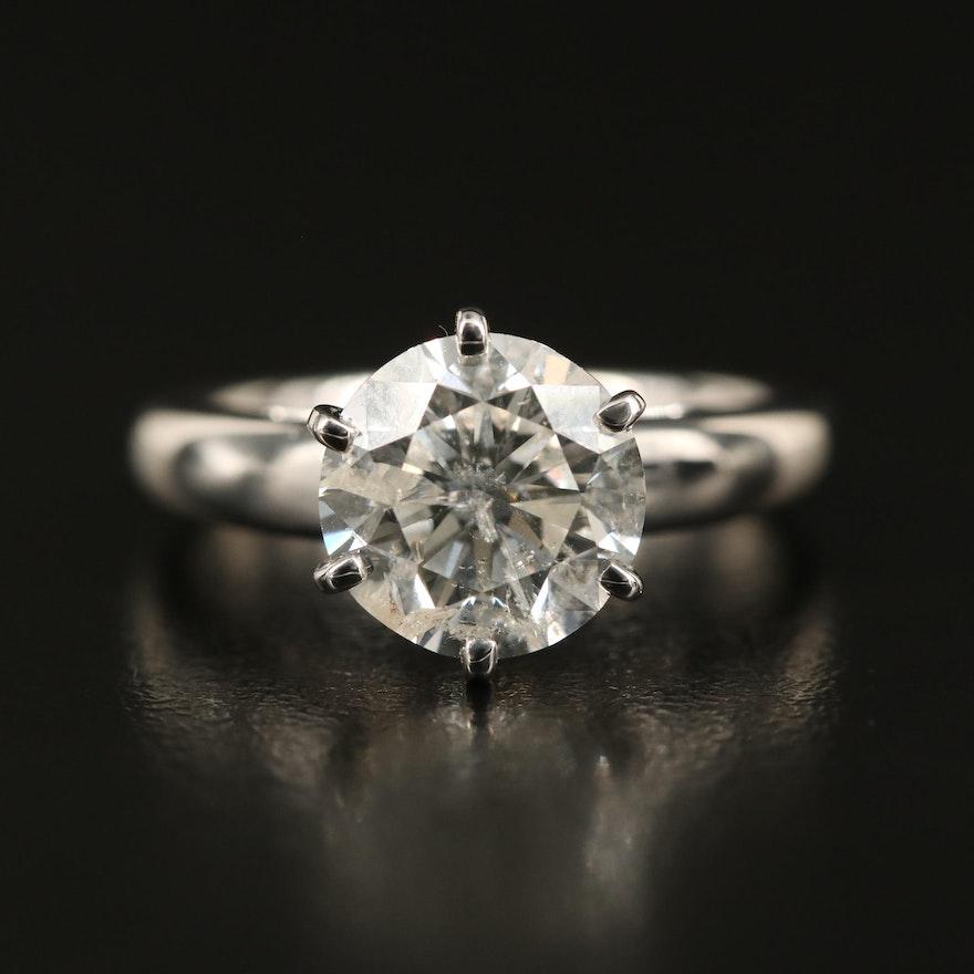 14K 3.05 CT Diamond Solitaire Ring