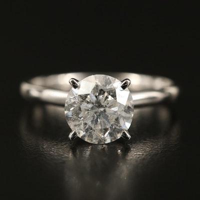 14K 2.30 CT Diamond Solitaire Ring