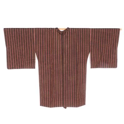 Stripe Patterned Silk Michiyuki