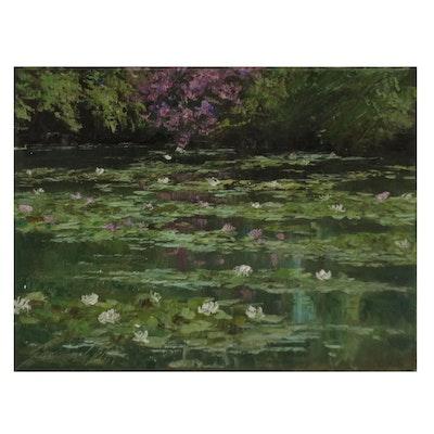 """Garncarek Aleksander Oil Painting """"Na Wodzie,"""" 2021"""