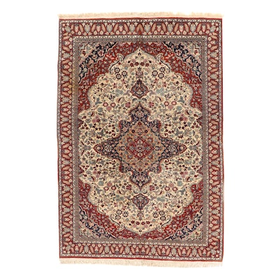6'5 x 10' Hand-Knotted Indo-Persian Tabriz Wool Area Rug