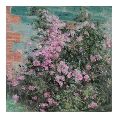 "Garncarek Aleksander Oil Painting ""Roze,"" 2021"
