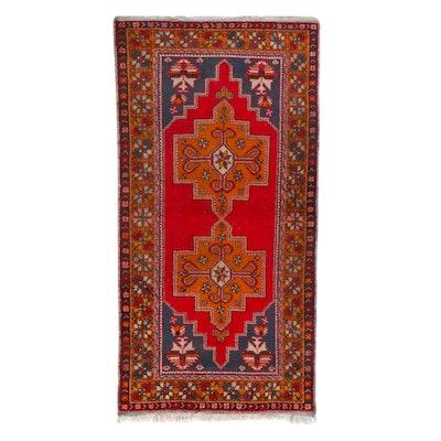 4'7 x 9'6 Hand-Knotted Turkish Anatolian Area Rug