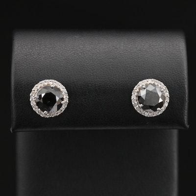 14K 5.00 CTW Diamond Halo Stud Earrings