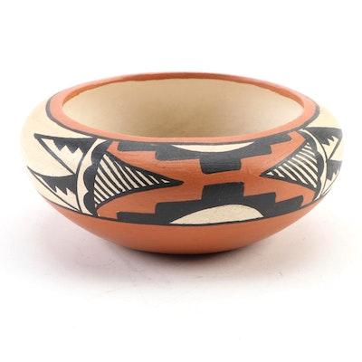 Vangie Tafoya Jemez Polychrome Earthenware Jar