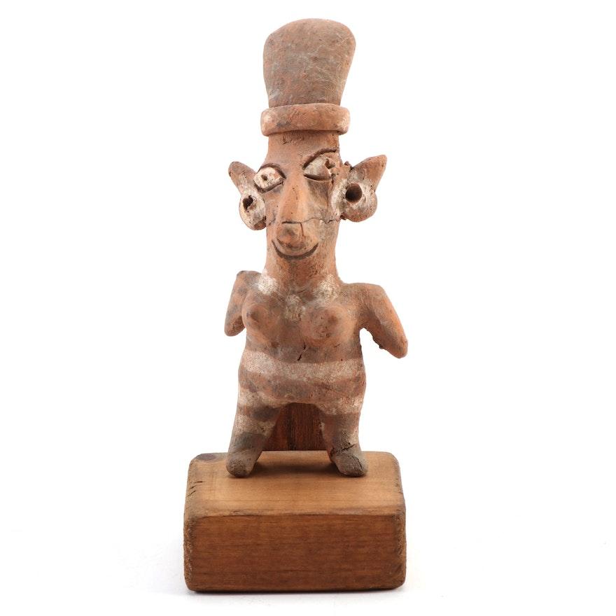 Nayarit Polychrome Ceramic Figure, Pre-Columbian Mexico