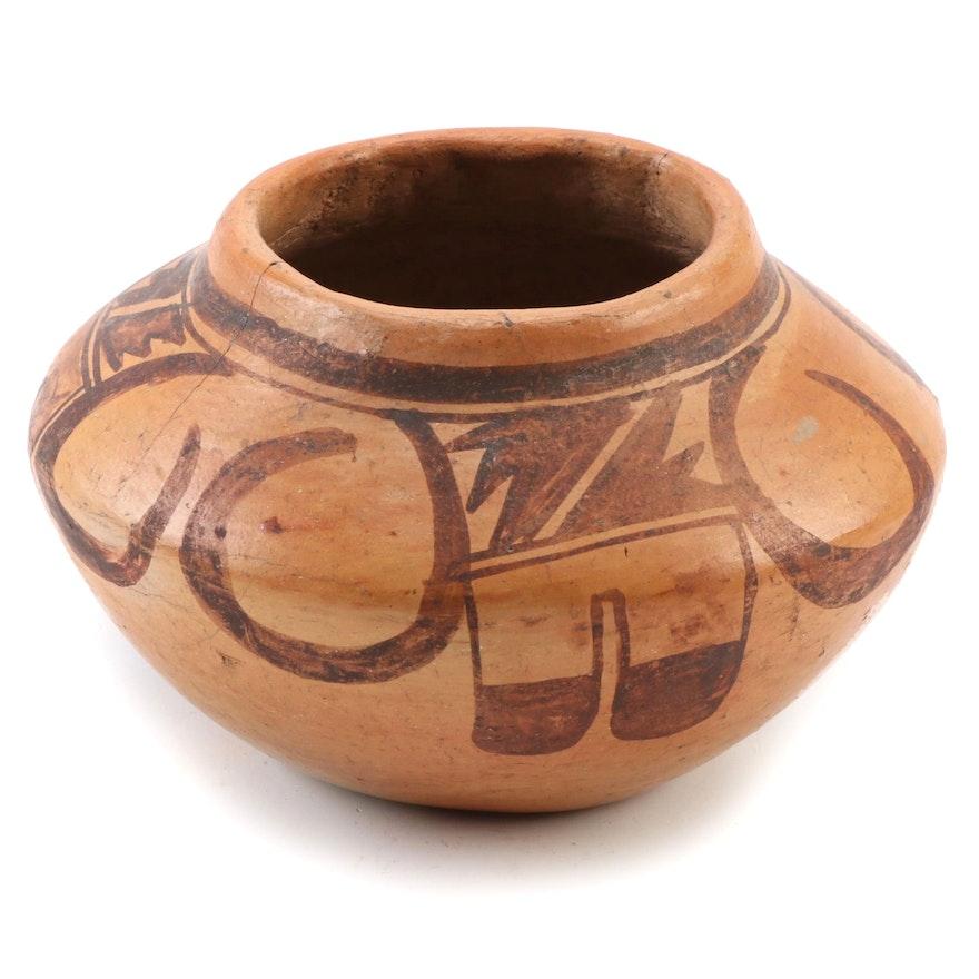 Hopi Pueblo Polychrome Earthenware Jar, 1910-1920
