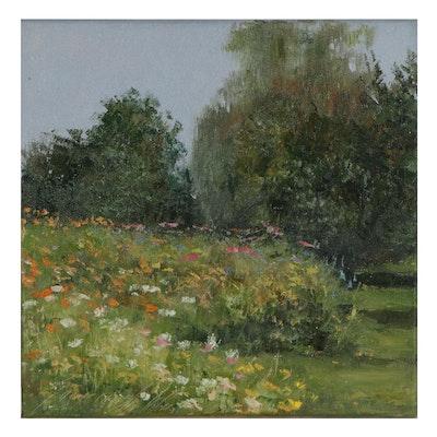 "Garncarek Aleksander Oil Painting ""W Ogrodzie,"" 2021"