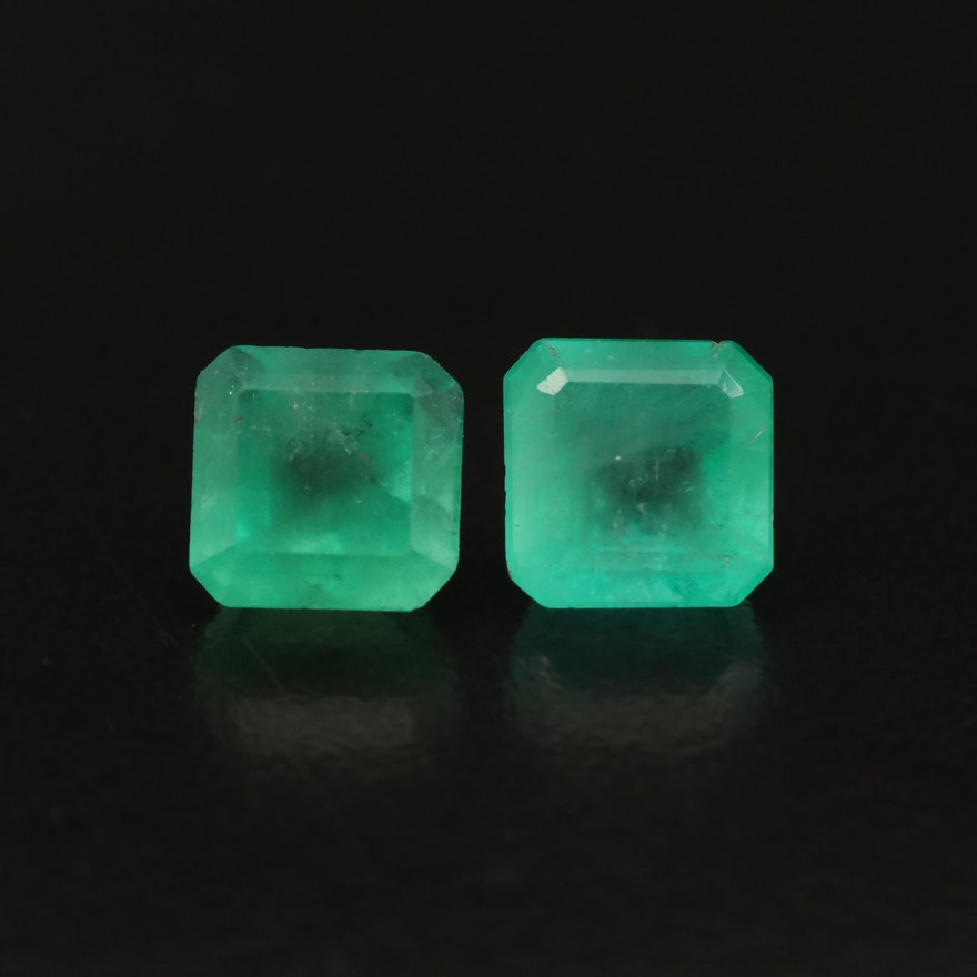 Loose 4.22 CTW Square Faceted Emerald
