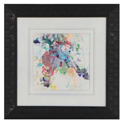 "Mark Whitmarsh Acrylic Painting ""Divine Garden #802,"" 2021"