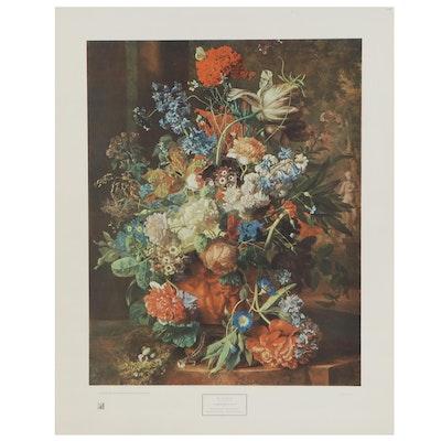 """Offset Lithograph After Jan van Huysum """"Gardener's Gift"""""""