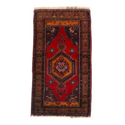 3'7 x 6'10 Hand-Knotted Turkish Anatolian Yahyalı Area Rug