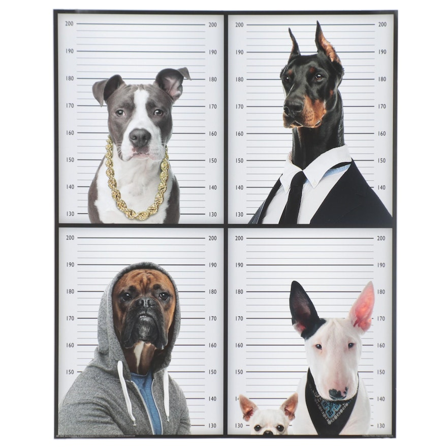 """Offset Lithograph Poster """"Most Wanted Dogs,"""" 21st Century"""