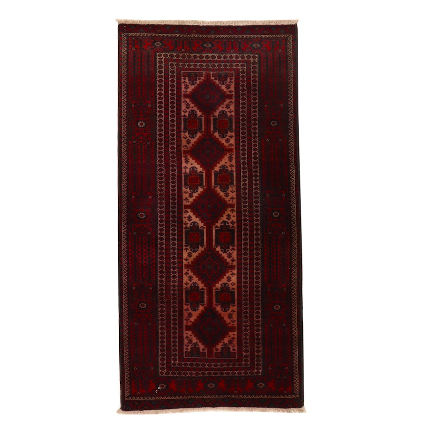 3'5 x 7'6 Hand-Knotted Afghan Baluch Area Rug