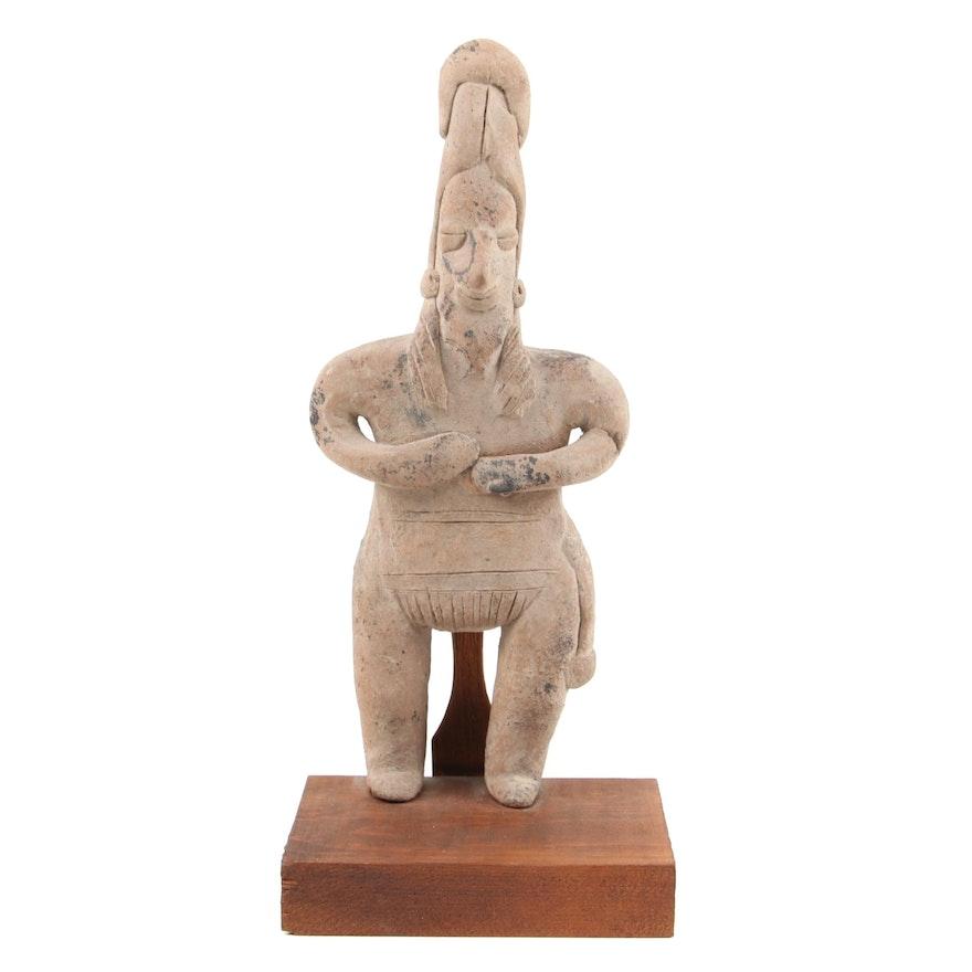 Pre-Columbian Colima Male Earthenware Figure, 200 B.C.E.-500 C.E.