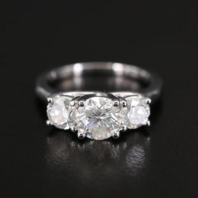 14K 2.43 CTW Diamond Three Stone Ring