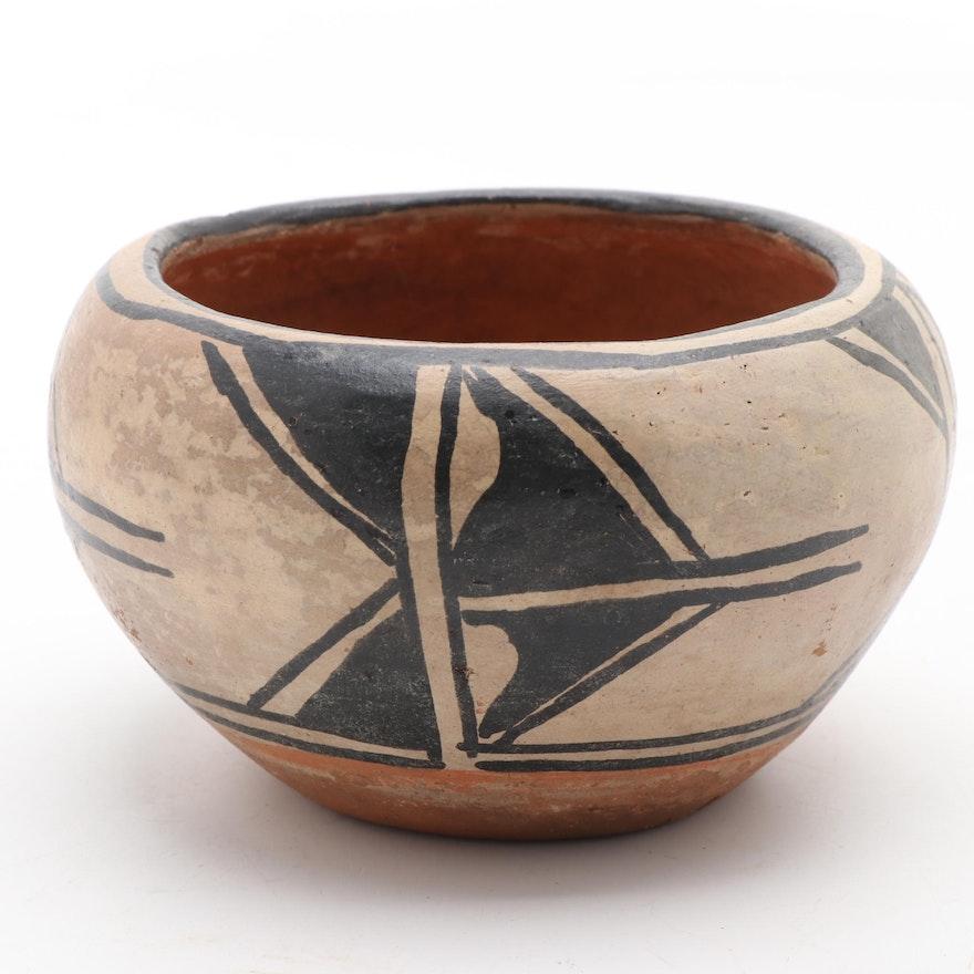 San Ildefonso Pueblo Polychrome Earthenware Jar