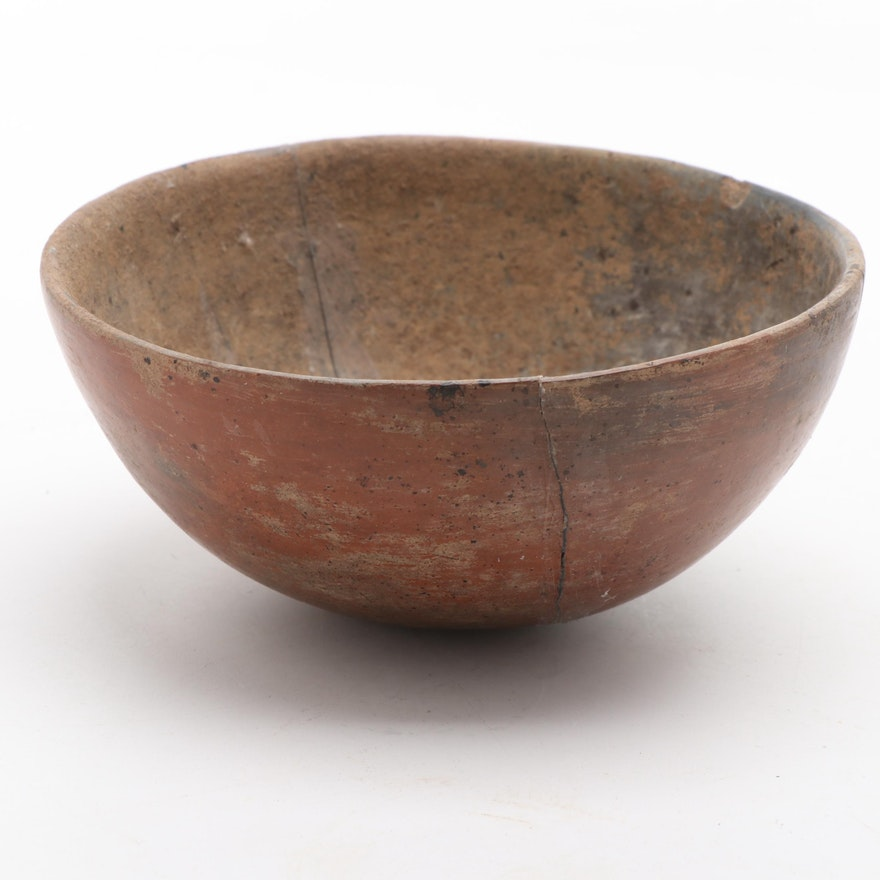 Michoacán Slip-Glazed Ceramic Bowl, Pre-Columbian Mexico