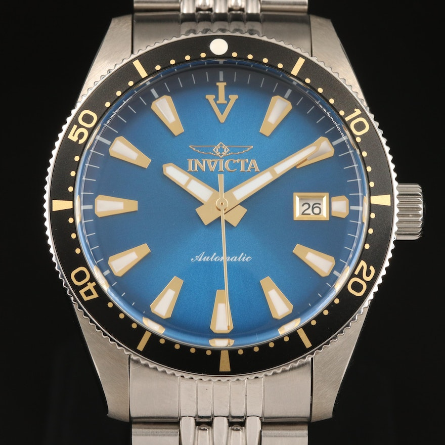 """Invicta """"Vintage"""" Stainless Steel Automatic Wristwatch"""