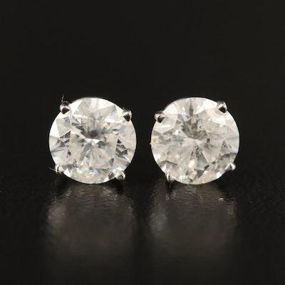 14K 2.29 CTW Diamond Stud Earrings