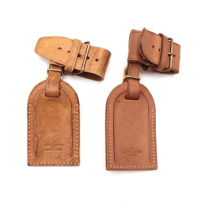 Louis Vuitton Luggage Tags and Poignets in Vachetta Leather