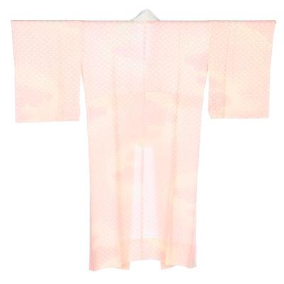 Shippo Patterned Pink Satin Juban