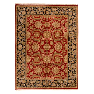 9' x 12'4 Hand-Knotted Indian Agra Room Sized Rug