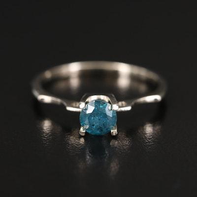 14K 0.66 CT Diamond Solitaire Ring