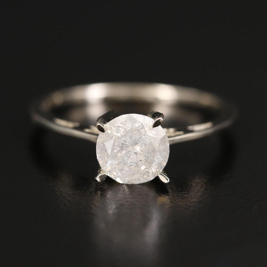 14K 1.12 CT Diamond Solitaire Ring